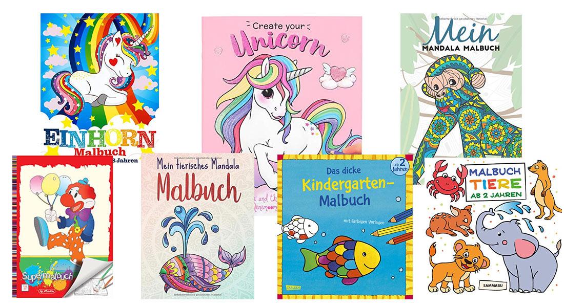 Die beliebtesten Malbücher