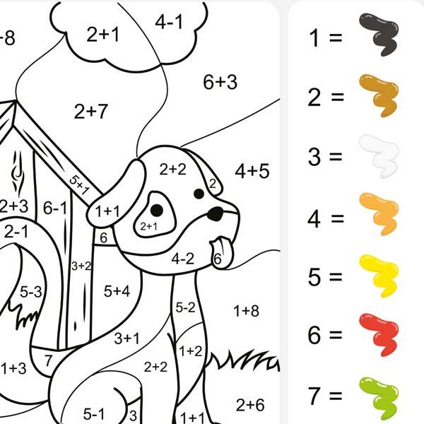 Malen-nach-Zahlen Kinder