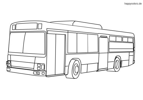 Autobus Malvorlage