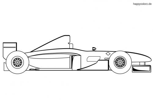 Formel-Rennauto Monoposto Malvorlage