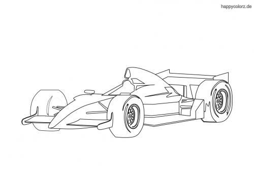 Formel-Rennwagen Ausmalbild