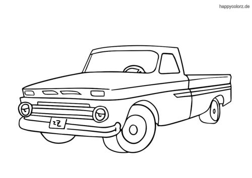 klassischer Pick-up Truck ausmalen