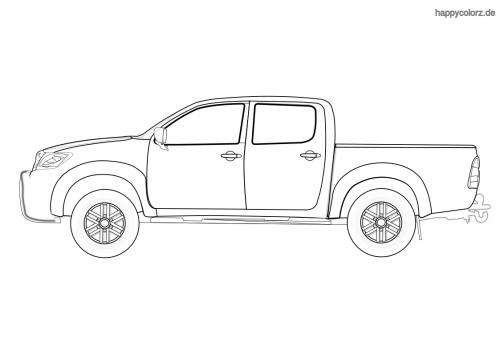 Pickup Truck Malvorlage