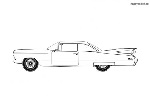 Oldtimer 60er US Ausmalbild
