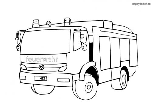 Feuerwehr Gerätefahrzeug Ausmalbild