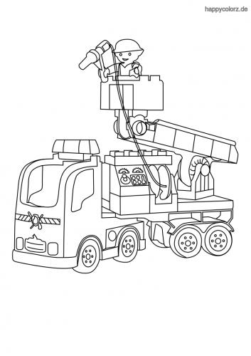 Zeichnung Feuerwehrauto Ausmalbild