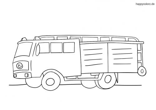 Löschgruppenfahrzeug Malvorlage
