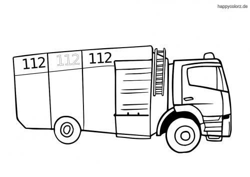 Tanklöschfahrzeug Malvorlage