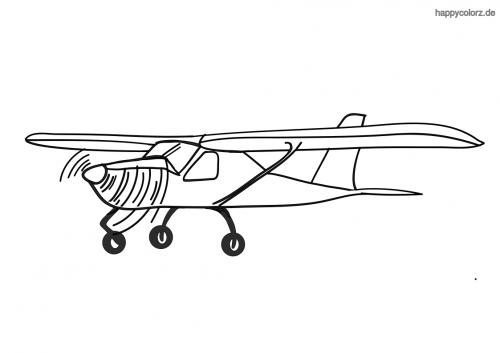 Einmotorige Cessna Ausmalbild