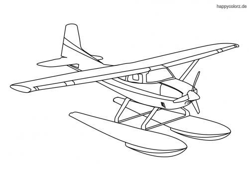 Wasserflugzeug Ausmalbild
