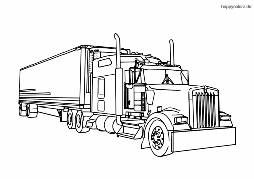US Truck Ausmalbild