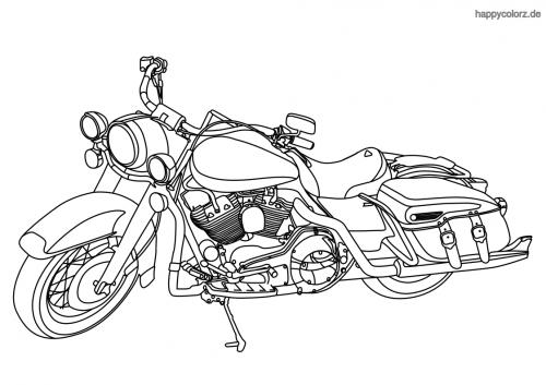 Hier findest du tolle Ausmalbilder von Motorrädern.