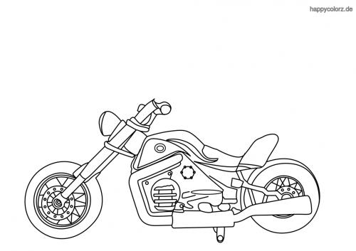 Einfache Chopper Ausmalbild