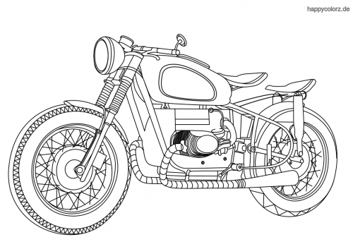 Motorrad  Ausmalbild