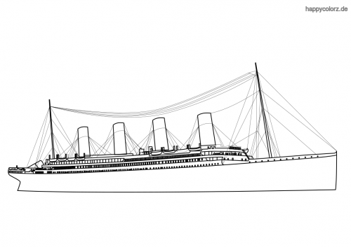 Titanic Dampfer Ausmalbild