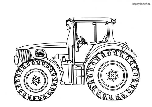 Großer Traktor Ausmalbild