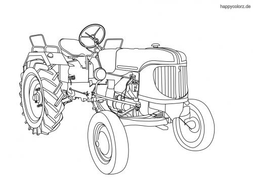 Traktor Malvorlage Kostenlos Traktoren Ausmalbilder