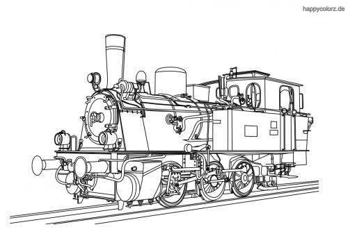 Dampflokomotive Ausmalbild