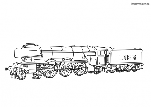 Flying Scotsman Malvorlage