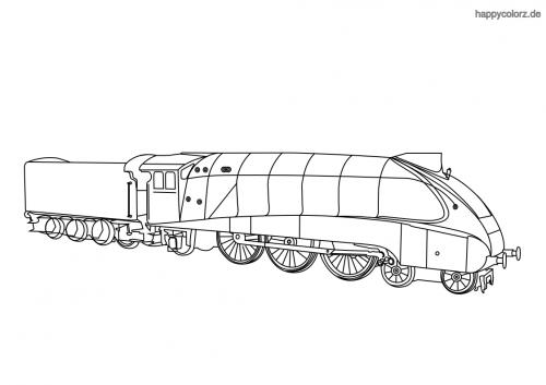 Lokomotive Mallard Malvorlage