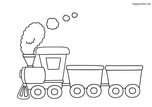 Spielzeug-Eisenbahn Ausmalbild