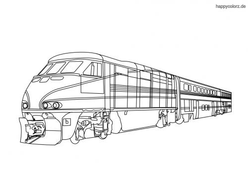 Amtrak Zug Malvorlage