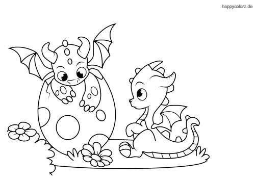 Drachenbabies Malvorlage