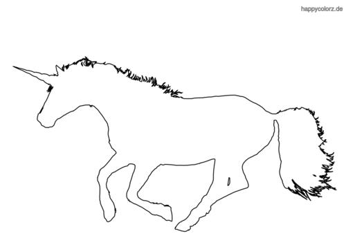 Hier findest du tolle Ausmalbilder von Einhörnern.