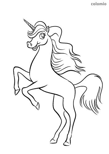 Springendes Unicorn Ausmalbild