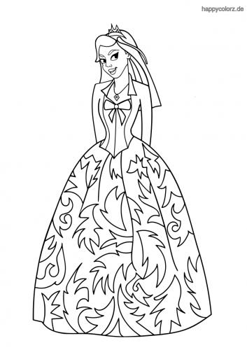 Prinzessin Ausmalbild
