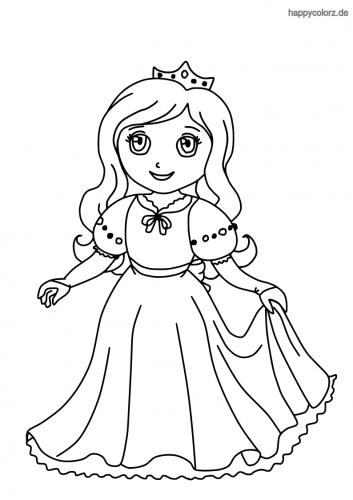 Prinzessin Malvorlage