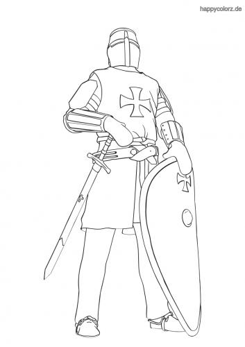 Ritter Ausmalbild