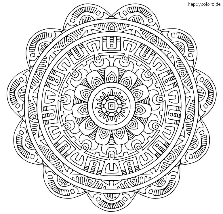 Abstraktes Mandala zum ausdrucken