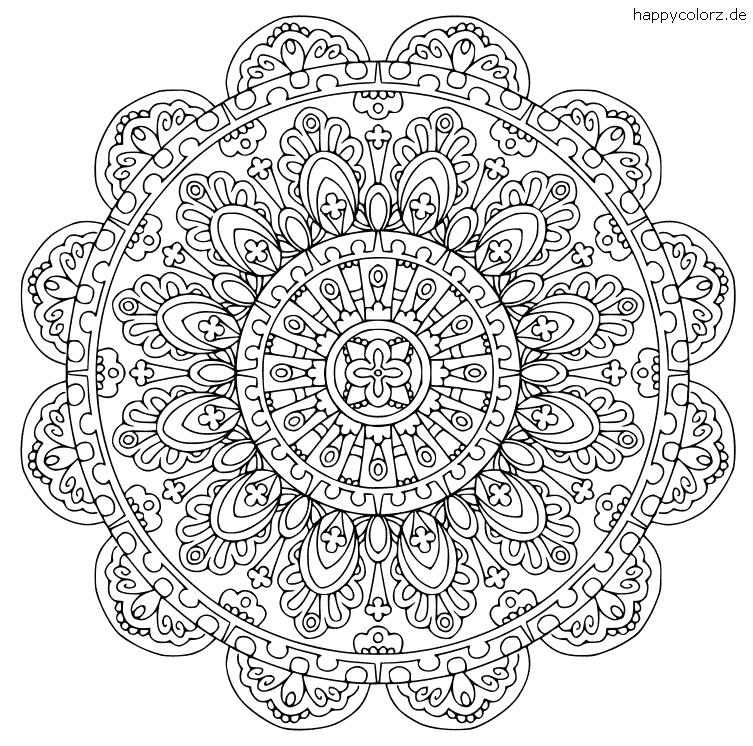 Blumen Mandala für Erwachsene