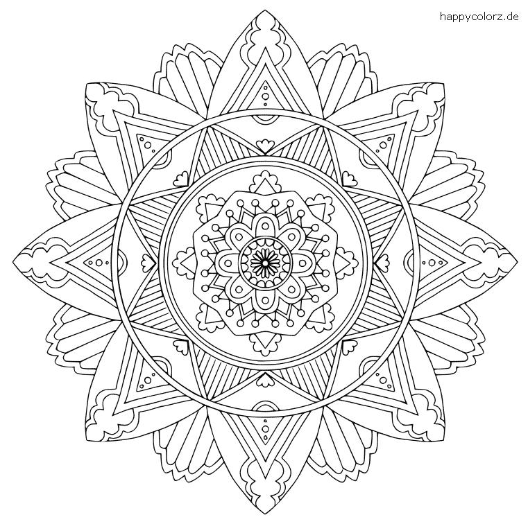 Einfaches Mandala zum ausmalen