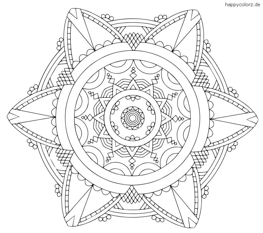 Einfaches Mandala Vorlage