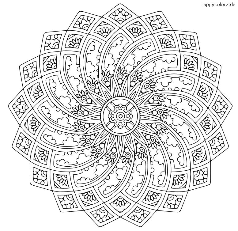 Gotik-Mandala zum ausdrucken