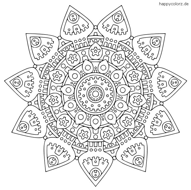 Mandala Blumenform Vorlage