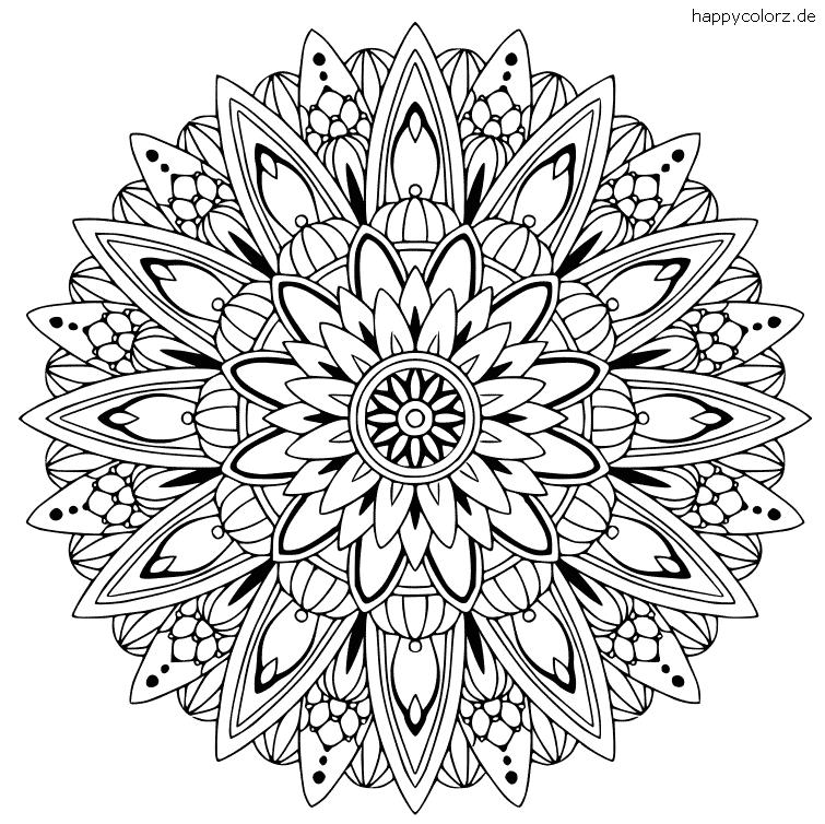 Mandala Floral Vorlage