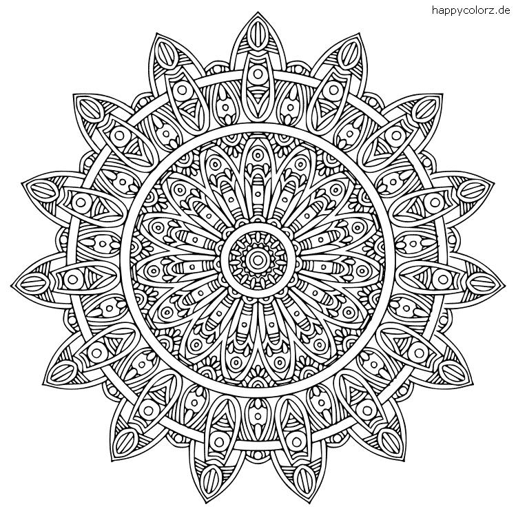 Mandala für Erwachsene zum ausmalen