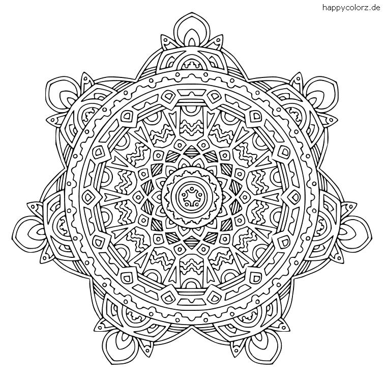 Mandala für Fortgeschrittene zum ausdrucken