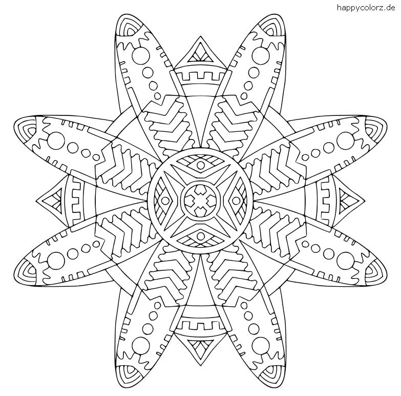 Mandala für Kinder zum ausdrucken