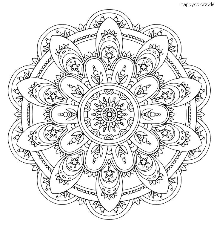 Mandala mit Blumenmuster zum ausdrucken
