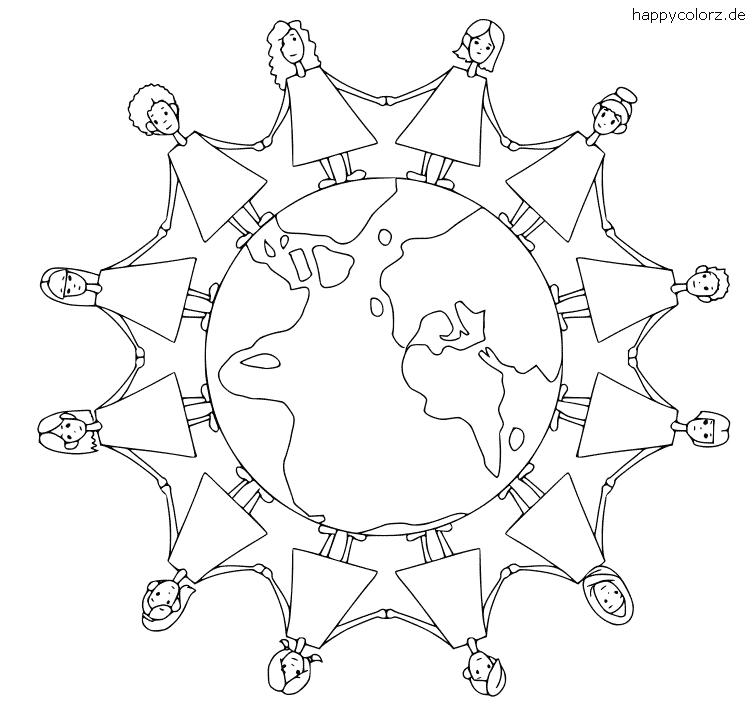 Mandala mit Kindern zum Ausdrucken