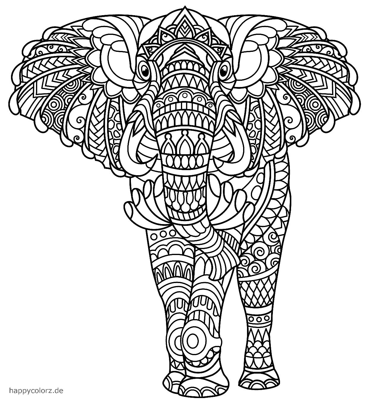 Mandala Elefant Vorlage