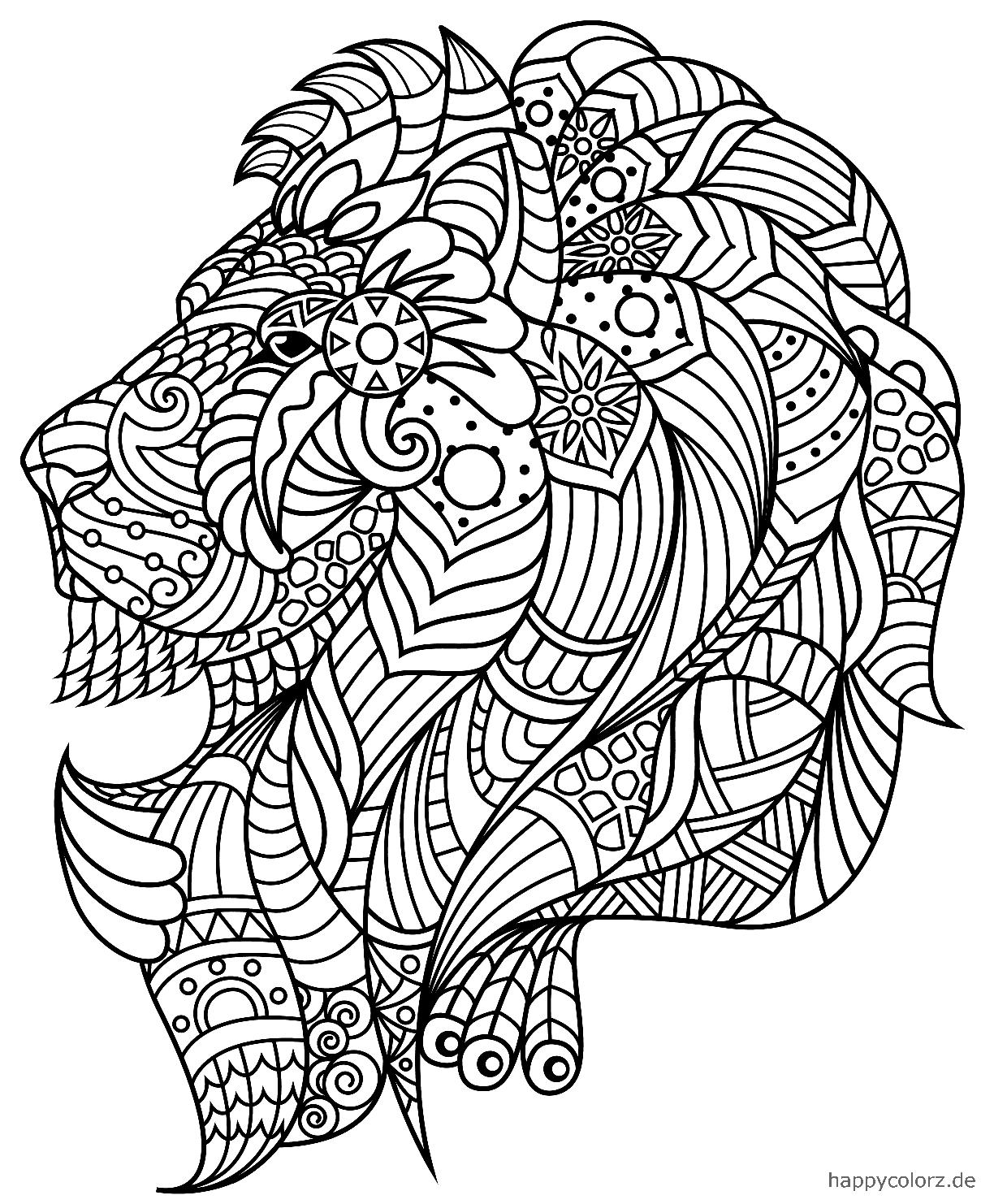Mandala Löwe Vorlage