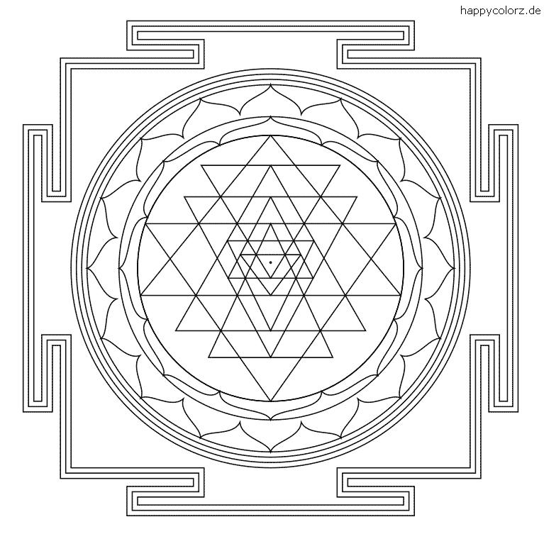Sri Yantra zum ausdrucken