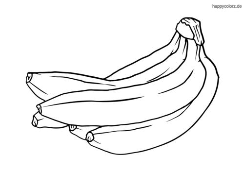 Bananen Malvorlage