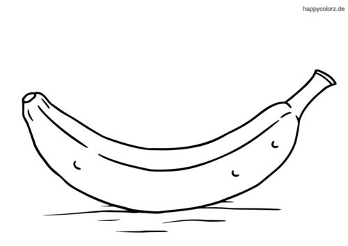 Ungeschälte Banane Malvorlage