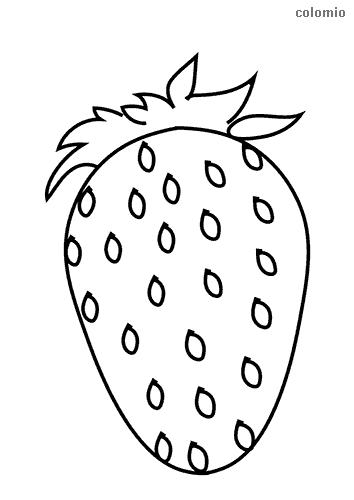 Einfache Erdbeere Malvorlage
